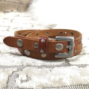 GAP Narrow Leather Belt with Round Stud Details